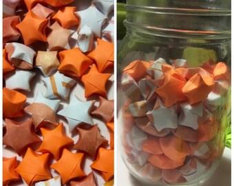 Orange paper stars