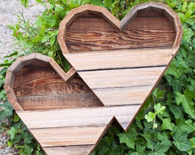Double Large Heart Succulent Planter