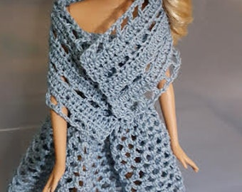 Sundress with Stole in light blue for Barbie