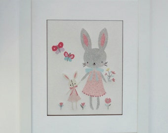 Displays sand child-rabbit 8 '' x 10 ''