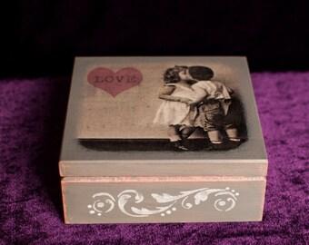 Wooden box ''Love''