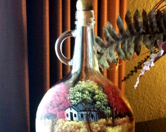 Stunning Hand Painted Bottle