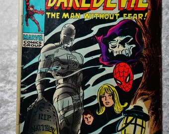 Vintage Marvel Comics, Silver Age, Daredevil #54,  Ready To Ship,  Vintage Comics, Graphic Novel