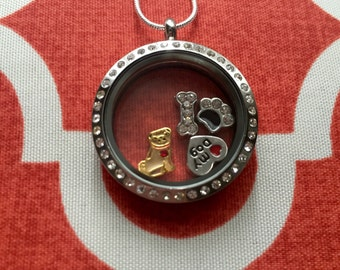 Pug Charm Locket Necklace