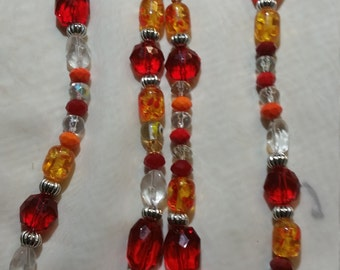 Gorgeous Red, Gold & Silver Necklace