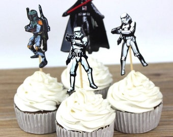 24 Star Wars Cupcake Toppers