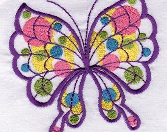 Polka Dot Butterflies - 10 Adorable Butterfly Machine Embroidery Designs