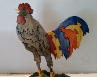 Rooster Wood Puzzle