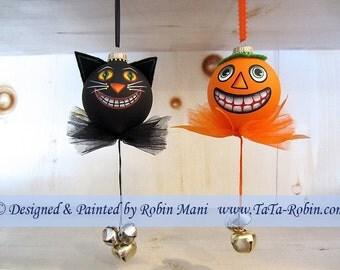 303 Jack & Cat Grins Decorative Painting Pattern
