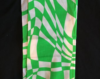 Vintage Green/White Fabric