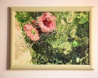 """Painting """"Flowers underwater"""""""