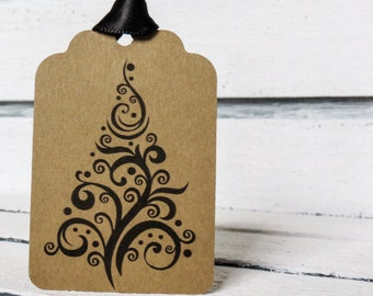Whimsical Christmas Tree Tags
