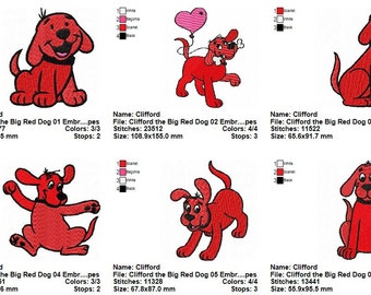 Package 23 Clifford the Big Red Dog Embroidery Designs