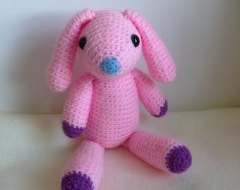 Crocheted animal Koko Bunny