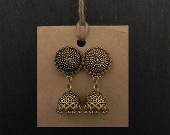 Antique gold earrings gold earrings ethnic gold earrings gold dangly earrings gold boho earrings bohemian jewellery gypsy earrings
