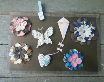 Set of Eight Magnets and Clips