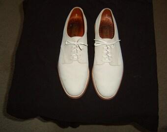 Classic Men's White Bucks Shoes