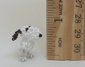 Miniature Beaded Snoopy Dog
