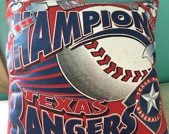 Texas Rangers T Shirt pillow