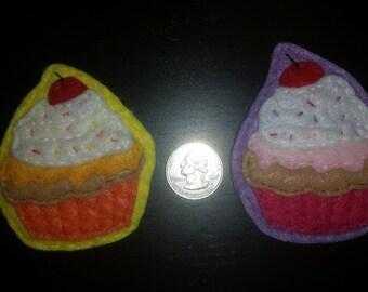 Felt Cupcake Pin