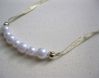 Simple Pearl Bead Necklace