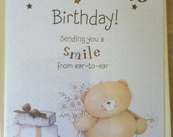 Forever Friends Happy Birthday Card with insert.