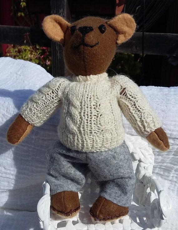 Stuffed felt  bears