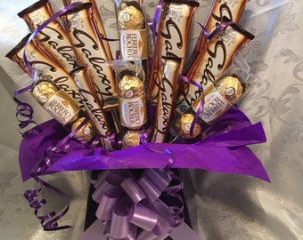 Galaxy and ferrero rocher chocolate bouquet