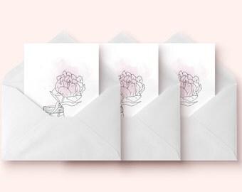 Set of 3 cards / / 3 Cards Set