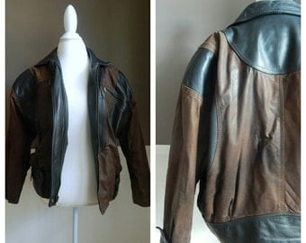 SALE Vintage Leather Motorcycle Jacket