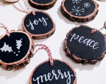 Gift tags or ornaments.