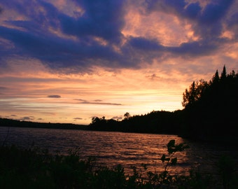 Sunset and Clouds Sky Nature Print, Nature Photography, Sunset and Clouds Photography Print