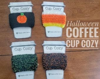 Halloween Coffee Cozy/Sleeve/Drink Cozy