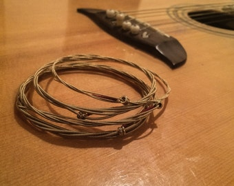 Guitar string 4pk bracelets
