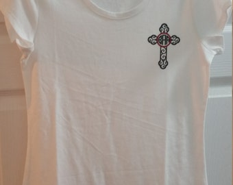 Custom Monogram Cross Shirt
