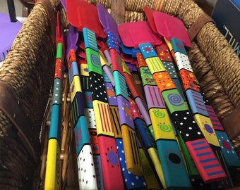 Hand-painted Rubber Spatulas
