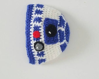 R2-D2 inspired beanie and diaper cover