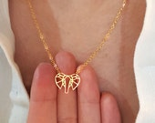 Origami Elephant Necklace, Elephant face necklace / 18k Gold, Silver / layered necklace / wedding jewelry , Gift ,  custom necklace