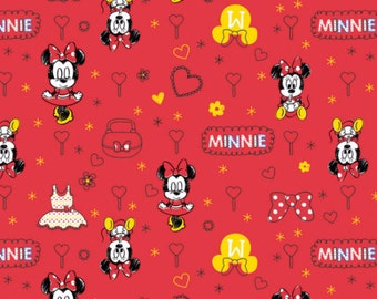 Disney Minnie Mouse in Red Fabric From Camelot