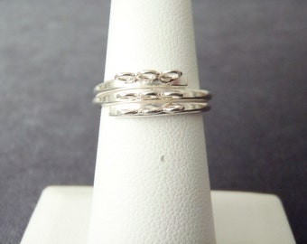 Sterling Silver Adjustable Charm Ring RCS2