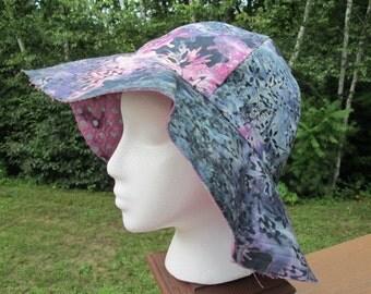Batik Reversible Floppy Brim Sun Hat
