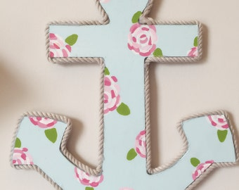 Custom hand painted lilly pulitzer anchor