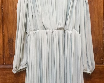 Baby Blue Cut Out Pleated Mini Dress
