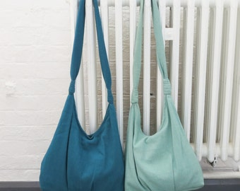 SHANTI Shoulder Bag in Teal Green or Mint