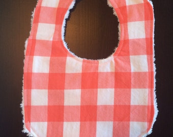 Made to Order Gingham Baby Bib