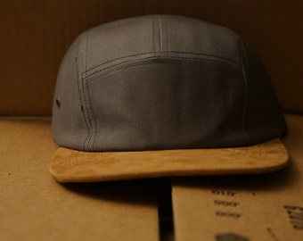 Gray & Suede Blank Cap Hat Strap Back