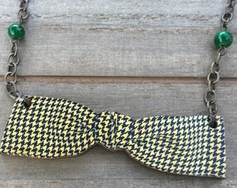 Natural Whimsy Collection: Formal Bowtie, Beaded Necklace