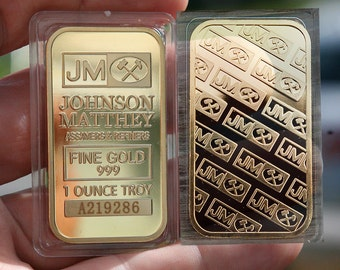 JM Johnson Matthey 1 oz gold bar. Non Magnetic.