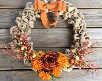 "Fall wreath 16"""