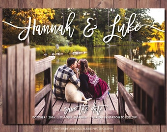 Simple Save the Date Card, Printable Save the Date, Modern Save the Date, Save the Date, Photo Credit: AMP